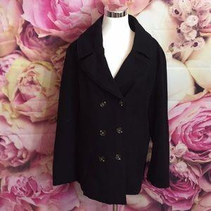 Harve Benard Black Pea Coat